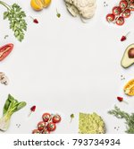 healthy food background.... | Shutterstock . vector #793734934