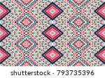 indian embroidery. geometric... | Shutterstock .eps vector #793735396