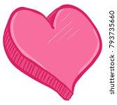 vector abstact love symbol ... | Shutterstock .eps vector #793735660