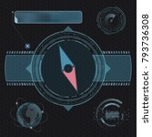 compass for navigation. design... | Shutterstock .eps vector #793736308