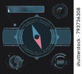 compass for navigation. design...