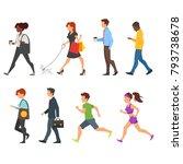 vector  cartoon style set of...   Shutterstock .eps vector #793738678