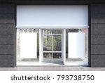glass  white and dark gray... | Shutterstock . vector #793738750