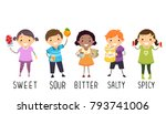 illustration of stickman kids... | Shutterstock .eps vector #793741006