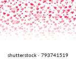 background with hearts.... | Shutterstock .eps vector #793741519