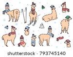 vector set of characters.... | Shutterstock .eps vector #793745140