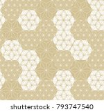 gold japanese pattern vector.... | Shutterstock .eps vector #793747540