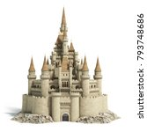 Old Fairytale Castle On The...
