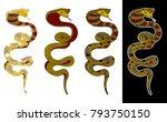 colorful snake cobra...   Shutterstock .eps vector #793750150