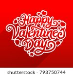 happy valentines day typography ... | Shutterstock .eps vector #793750744