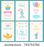 design template of cards with... | Shutterstock .eps vector #793753783