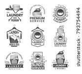 labels or logos for laundry... | Shutterstock .eps vector #793754494