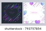 vector trendy design geometric... | Shutterstock .eps vector #793757854