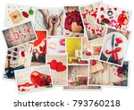 collage of love and romantic.... | Shutterstock . vector #793760218