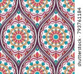 seamless pattern with ethnic...   Shutterstock .eps vector #793761184
