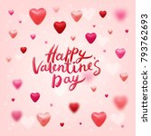 happy valentines day vector... | Shutterstock .eps vector #793762693