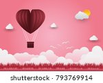 valentine's day balloons in a... | Shutterstock .eps vector #793769914