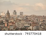 view of the city of istanbul... | Shutterstock . vector #793770418