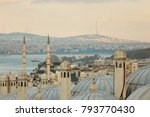 view of dome of the mosque ... | Shutterstock . vector #793770430