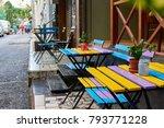 turkish street cafe in istanbul. | Shutterstock . vector #793771228