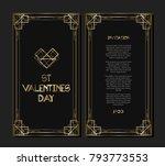 vintage retro style invitation...   Shutterstock .eps vector #793773553