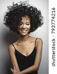 fashion studio portrait of...   Shutterstock . vector #793774216