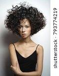 fashion studio portrait of... | Shutterstock . vector #793774219