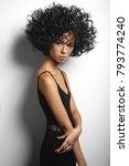 fashion studio portrait of... | Shutterstock . vector #793774240