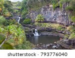 waterfalls and pools at oheo... | Shutterstock . vector #793776040