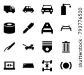 origami style icon set   car... | Shutterstock .eps vector #793776520