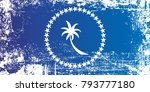 flag of chuuk state  federated... | Shutterstock . vector #793777180