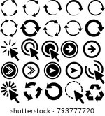 round arrow pointers directions | Shutterstock .eps vector #793777720