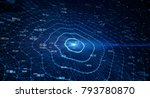 block chain network concept  ... | Shutterstock . vector #793780870