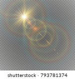 abstract golden front of a... | Shutterstock .eps vector #793781374