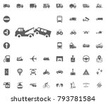 wrecker icon. transport and... | Shutterstock .eps vector #793781584