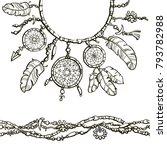 boho style decoration design... | Shutterstock .eps vector #793782988