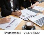 outdoor business work. | Shutterstock . vector #793784830