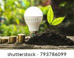 saving energy concept with... | Shutterstock . vector #793786099