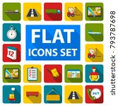 logistics service flat icons in ...   Shutterstock .eps vector #793787698