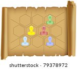 parchment placed on it the... | Shutterstock .eps vector #79378972
