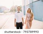 outdoor summer evening portrait ... | Shutterstock . vector #793789993