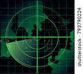 radar screen green color....   Shutterstock .eps vector #793790224