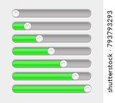 green slider bar. settings on...