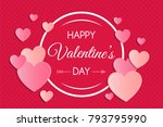 happy valentine's day   card... | Shutterstock .eps vector #793795990