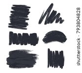 set of ink brush vector | Shutterstock .eps vector #793804828