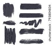 set of ink brush vector | Shutterstock .eps vector #793804834