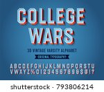 'college Wars' Vintage Retro 3...