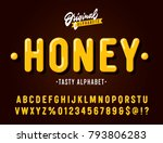 'honey' vintage sans serif ... | Shutterstock .eps vector #793806283