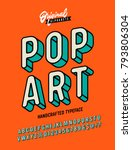 slanted 'pop art' vintage 3d... | Shutterstock .eps vector #793806304