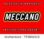 'meccano' sans serif rounded... | Shutterstock .eps vector #793806313